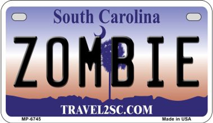 Zombie South Carolina Novelty Metal Motorcycle Plate MP-6745