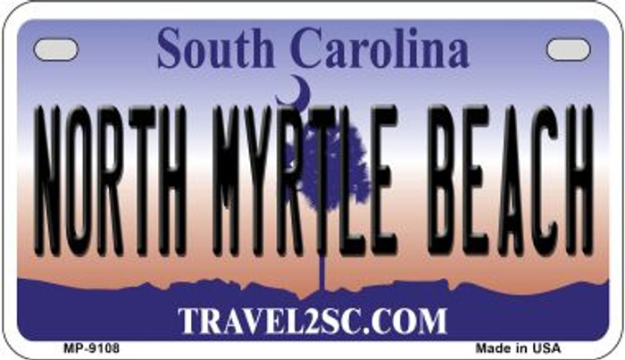 North Myrtle Beach South Carolina Novelty Metal Motorcycle Plate MP-9108