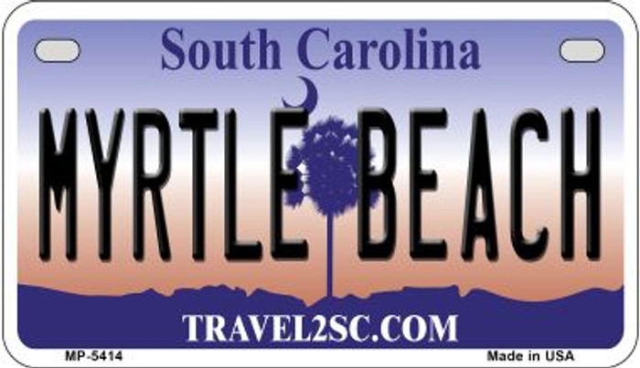 Myrtle Beach South Carolina Novelty Metal Motorcycle Plate MP-5414