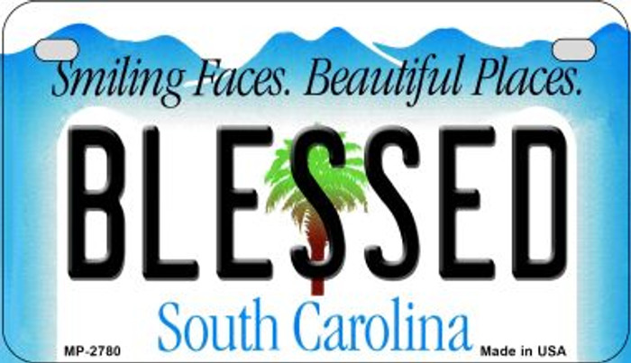 Blessed South Carolina Novelty Metal Motorcycle Plate MP-2780