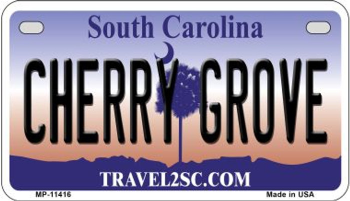 Cherry Grove South Carolina Novelty Metal Motorcycle Plate MP-11416