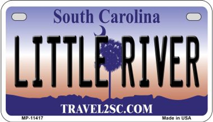 Little River South Carolina Novelty Metal Motorcycle Plate MP-11417