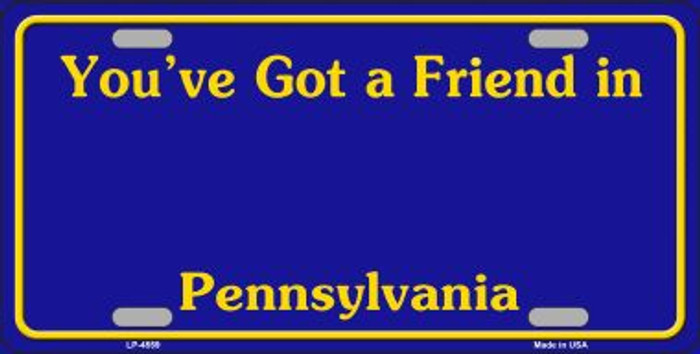 Pennsylvania Novelty State Background Blank Metal License Plate
