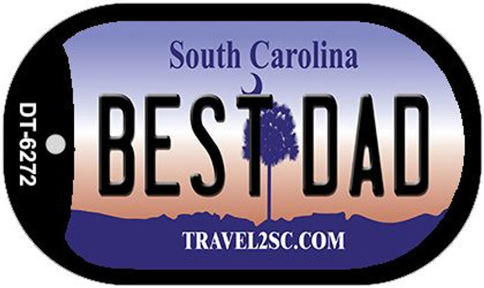 Best Dad South Carolina Novelty Metal Dog Tag Necklace DT-6272