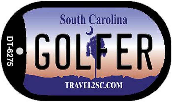 Golfer South Carolina Novelty Metal Dog Tag Necklace DT-6275