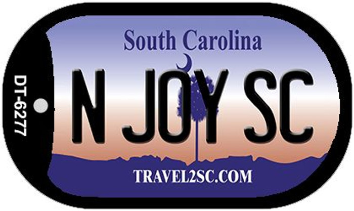N Joy SC South Carolina Novelty Metal Dog Tag Necklace DT-6277