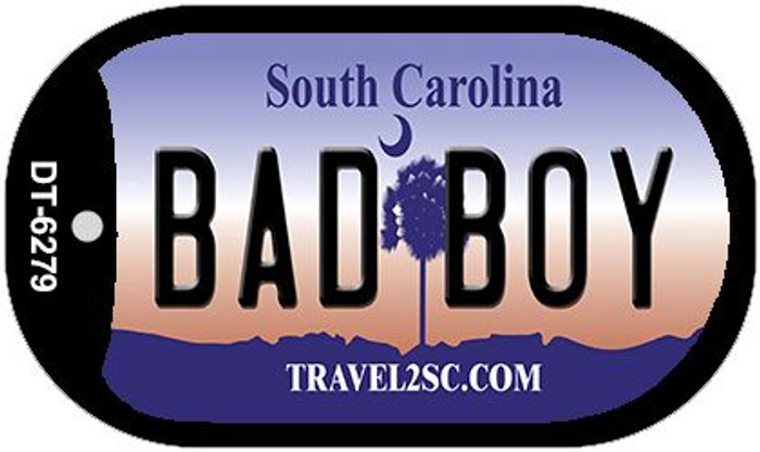 Bad Boy South Carolina Novelty Metal Dog Tag Necklace DT-6279