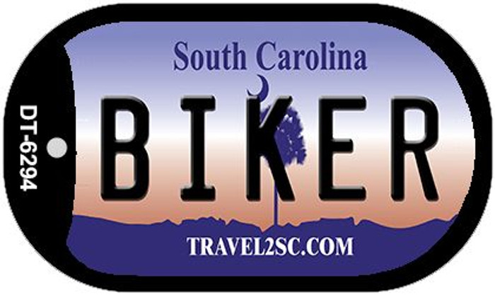 Biker South Carolina Novelty Metal Dog Tag Necklace DT-6294