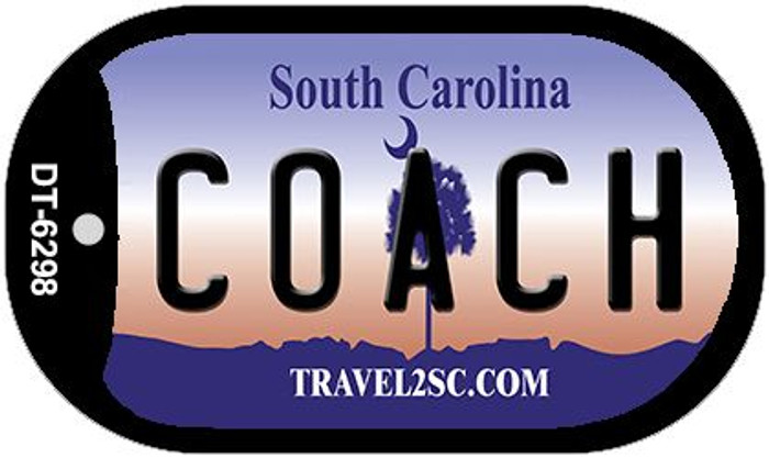 Coach South Carolina Novelty Metal Dog Tag Necklace DT-6298