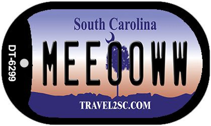 Meeooww South Carolina Novelty Metal Dog Tag Necklace DT-6299