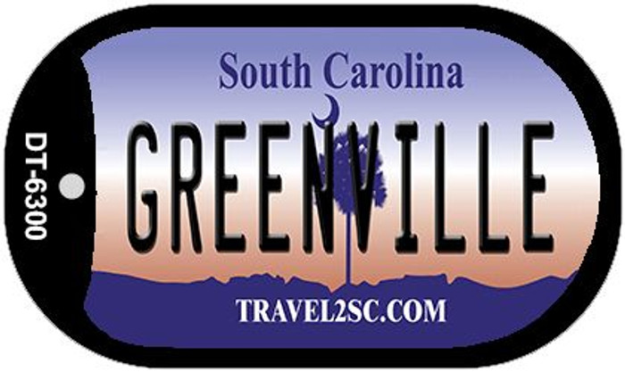 Greenville South Carolina Novelty Metal Dog Tag Necklace DT-6300
