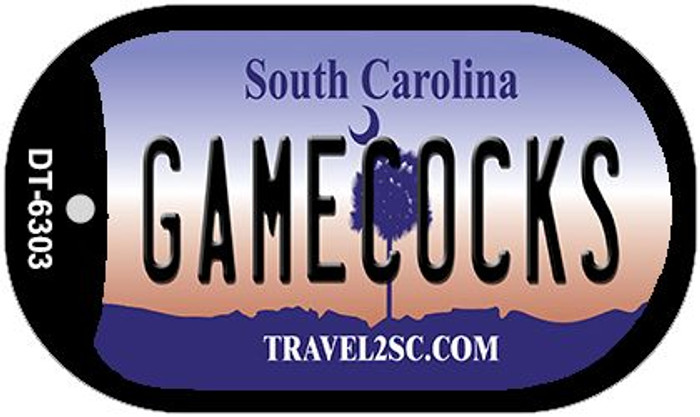 Gamecocks South Carolina Novelty Metal Dog Tag Necklace DT-6303