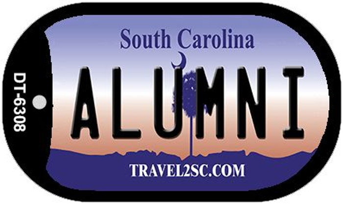 Alumni South Carolina Novelty Metal Dog Tag Necklace DT-6308
