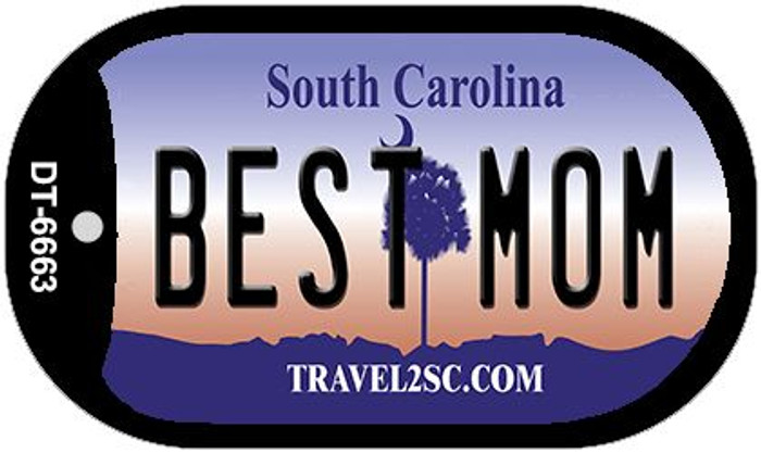 Best Mom South Carolina Novelty Metal Dog Tag Necklace DT-6663