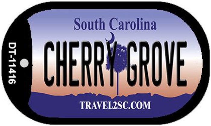 Cherry Grove South Carolina Novelty Metal Dog Tag Necklace DT-11416