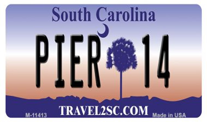 Pier 14 South Carolina Novelty Metal Magnet M-11413