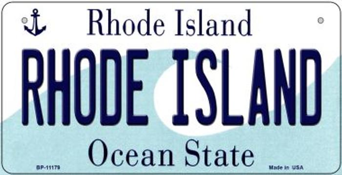 Rhode Island Novelty Metal Bicycle Plate BP-11179