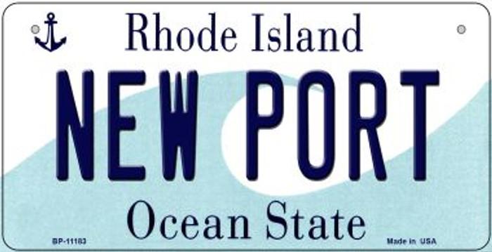 New Port Rhode Island Novelty Metal Bicycle Plate BP-11183