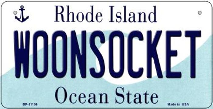 Woonsocket Rhode Island Novelty Metal Bicycle Plate BP-11186