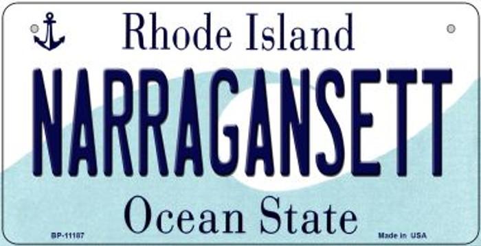 Narragansett Rhode Island Novelty Metal Bicycle Plate BP-11187