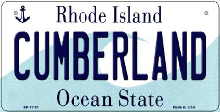 Cumberland Rhode Island Novelty Metal Bicycle Plate BP-11191