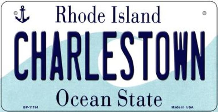 Charlestown Rhode Island Novelty Metal Bicycle Plate BP-11194