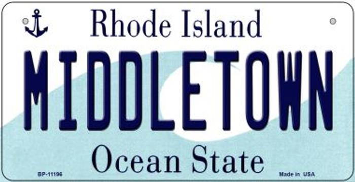 Middletown Rhode Island Novelty Metal Bicycle Plate BP-11196