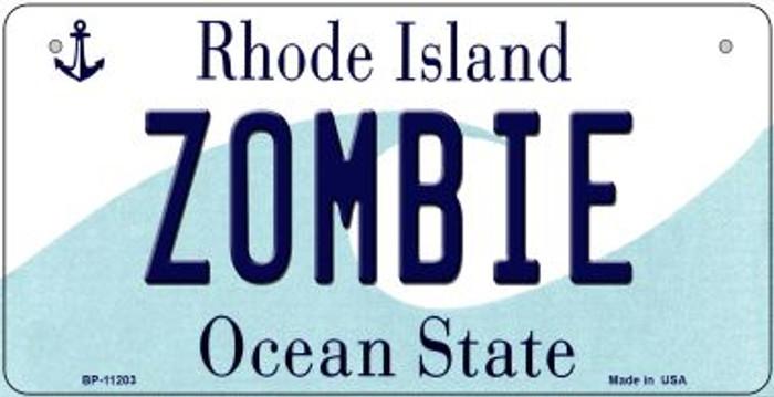 Zombie Rhode Island Novelty Metal Bicycle Plate BP-11203