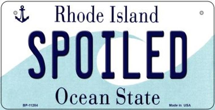 Spoiled Rhode Island Novelty Metal Bicycle Plate BP-11204