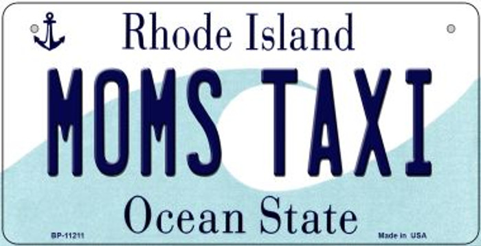 Moms Taxi Rhode Island Novelty Metal Bicycle Plate BP-11211