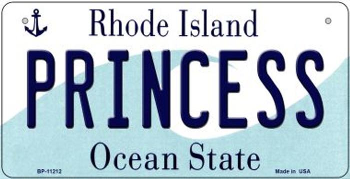 Princess Rhode Island Novelty Metal Bicycle Plate BP-11212