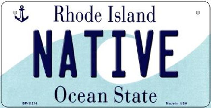 Native Rhode Island Novelty Metal Bicycle Plate BP-11214
