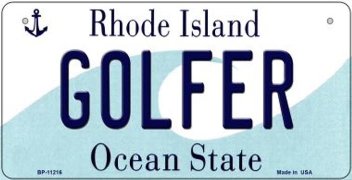 Golfer Rhode Island Novelty Metal Bicycle Plate BP-11216