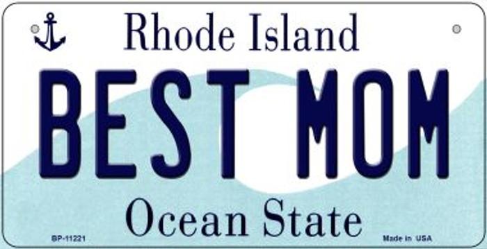 Best Mom Rhode Island Novelty Metal Bicycle Plate BP-11221