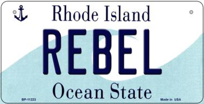 Rebel Rhode Island Novelty Metal Bicycle Plate BP-11223