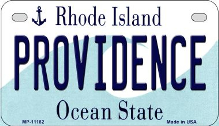 Providence Rhode Island Novelty Metal Motorcycle Plate MP-11182
