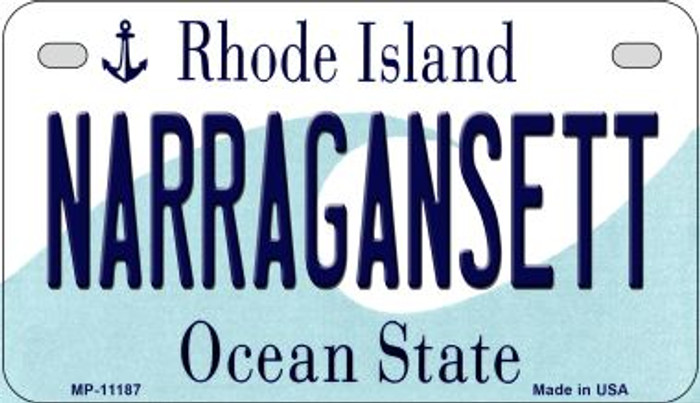 Narragansett Rhode Island Novelty Metal Motorcycle Plate MP-11187