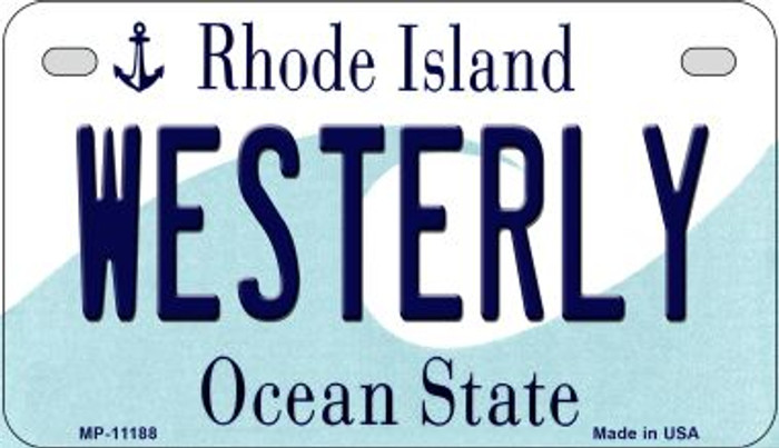 Westerly Rhode Island Novelty Metal Motorcycle Plate MP-11188