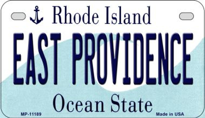 East Providence Rhode Island Novelty Metal Motorcycle Plate MP-11189