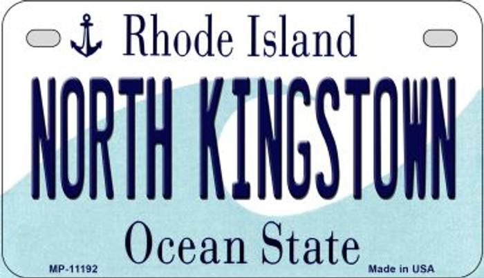North Kingstown Rhode Island Novelty Metal Motorcycle Plate MP-11192