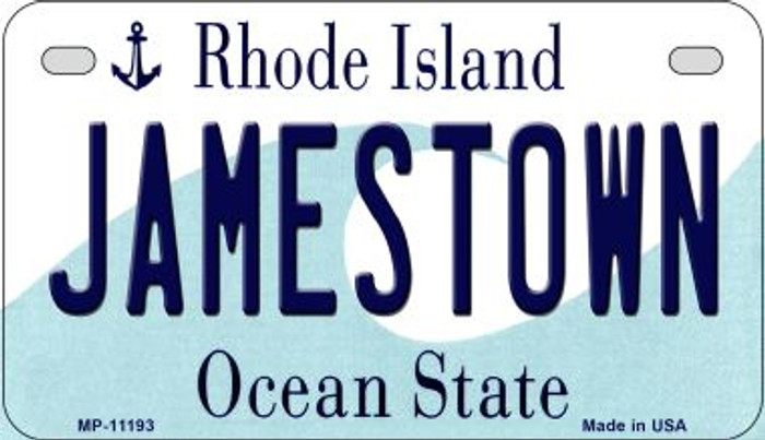 Jamestown Rhode Island Novelty Metal Motorcycle Plate MP-11193
