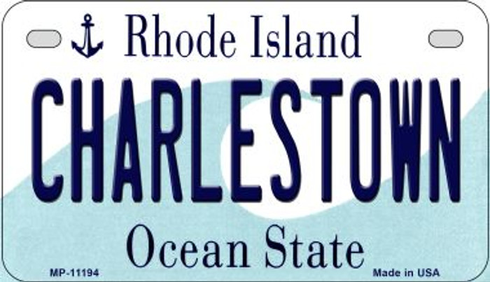 Charlestown Rhode Island Novelty Metal Motorcycle Plate MP-11194