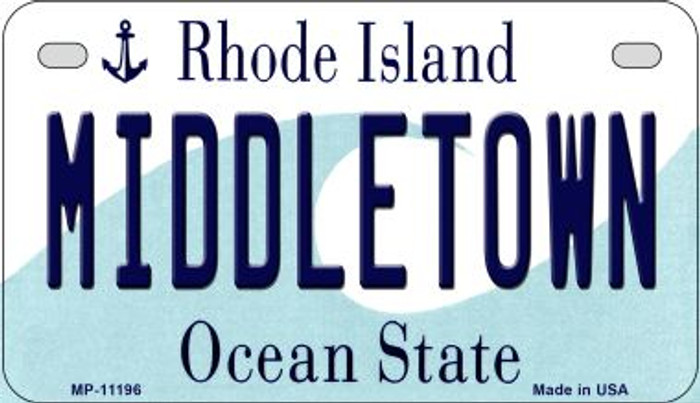 Middletown Rhode Island Novelty Metal Motorcycle Plate MP-11196