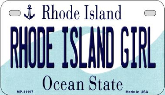 Rhode Island Girl Novelty Metal Motorcycle Plate MP-11197