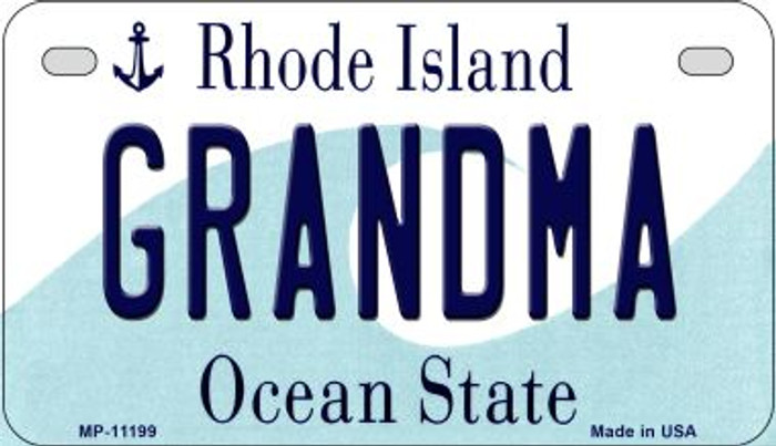 Grandma Rhode Island Novelty Metal Motorcycle Plate MP-11199