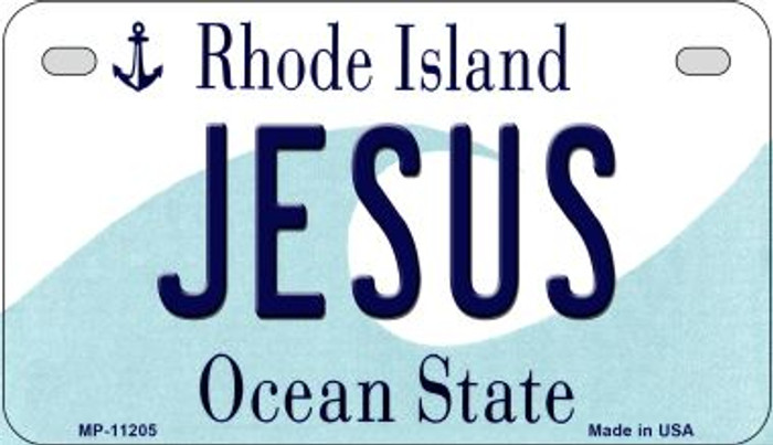 Jesus Rhode Island Novelty Metal Motorcycle Plate MP-11205
