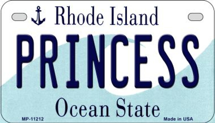 Princess Rhode Island Novelty Metal Motorcycle Plate MP-11212
