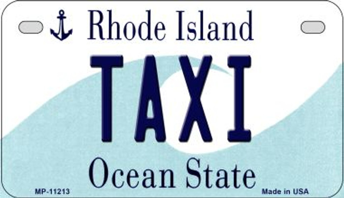 Taxi Rhode Island Novelty Metal Motorcycle Plate MP-11213