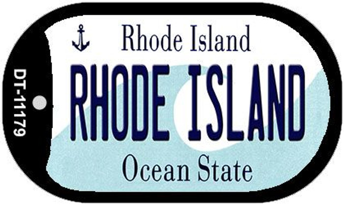 Rhode Island Novelty Metal Dog Tag Necklace DT-11179