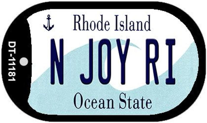 N Joy RI Rhode Island Novelty Metal Dog Tag Necklace DT-11181